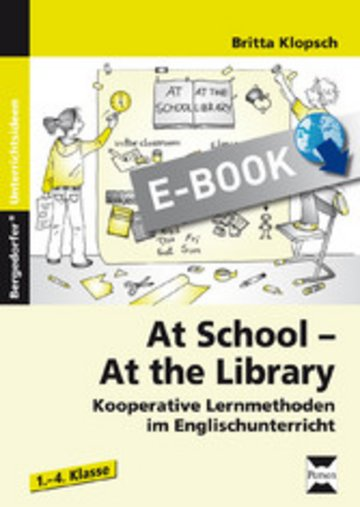 eBook At School - At the Library Cover