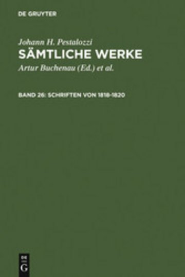 eBook Schriften von 1818-1820 Cover