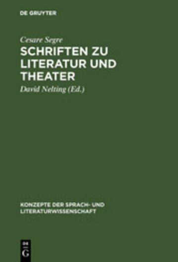 eBook Schriften zu Literatur und Theater Cover