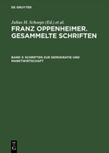 eBook Schriften zur Demokratie und Marktwirtschaft Cover