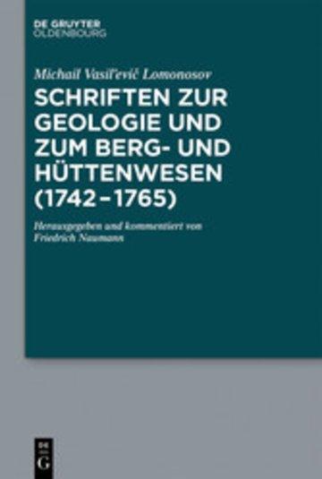eBook Schriften zur Geologie und zum Berg- und Hüttenwesen (1742-1765) Cover