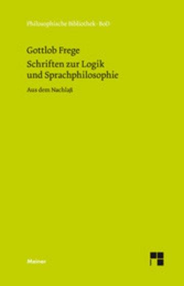 eBook Schriften zur Logik und Sprachphilosophie Cover