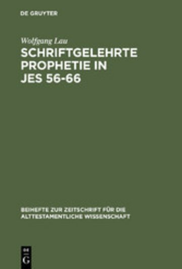 eBook Schriftgelehrte Prophetie in Jes 56-66 Cover