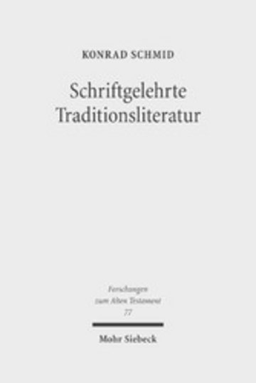 eBook Schriftgelehrte Traditionsliteratur Cover