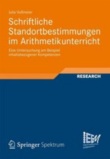 eBook Schriftliche Standortbestimmungen im Arithmetikunterricht Cover