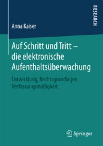 eBook Auf Schritt und Tritt - die elektronische Aufenthaltsüberwachung Cover