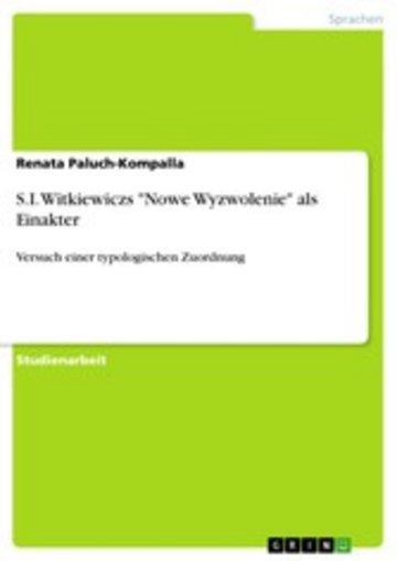 eBook S.I. Witkiewiczs 'Nowe Wyzwolenie' als Einakter Cover