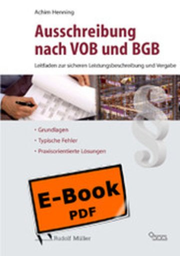 eBook Sicher Ausschreiben nach VOB und BGB Cover
