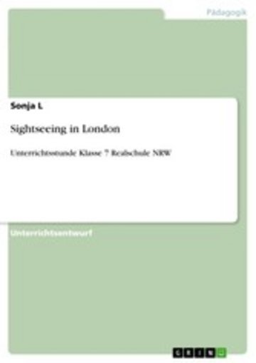 eBook Sightseeing in London Cover