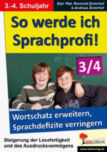 eBook So werde ich Sprachprofi! / Klasse 3-4 Cover