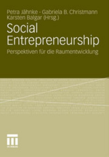 eBook Social Entrepreneurship Cover