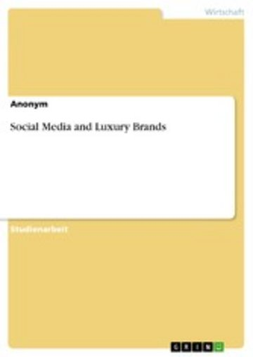 eBook Social Media and Luxury Brands Cover