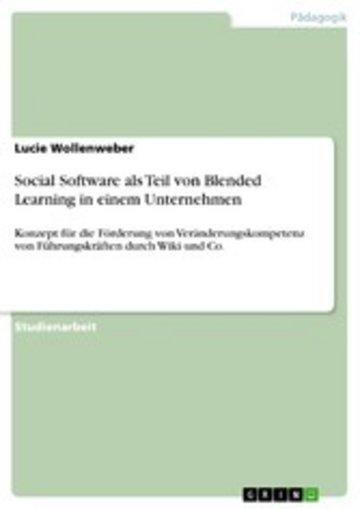 eBook Social Software als Teil von Blended Learning in einem Unternehmen Cover