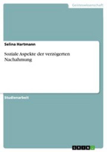 eBook Soziale Aspekte der verzögerten Nachahmung Cover