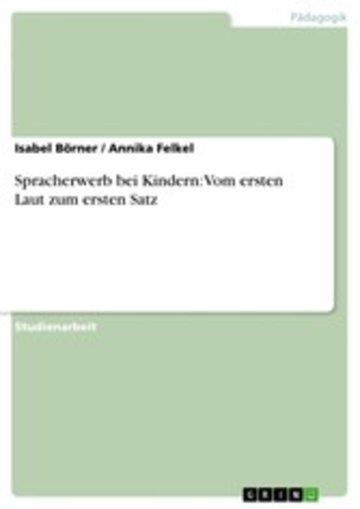 eBook Spracherwerb bei Kindern: Vom ersten Laut zum ersten Satz Cover