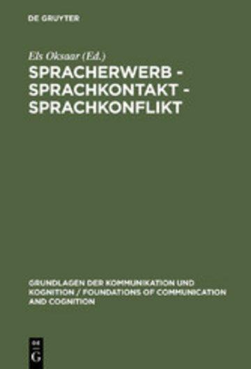 eBook Spracherwerb - Sprachkontakt - Sprachkonflikt Cover