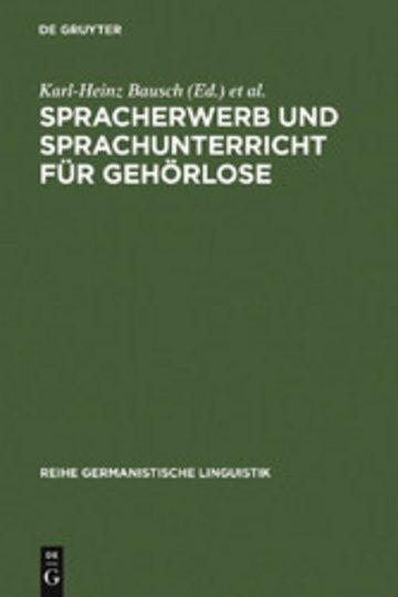 eBook Spracherwerb und Sprachunterricht für Gehörlose Cover