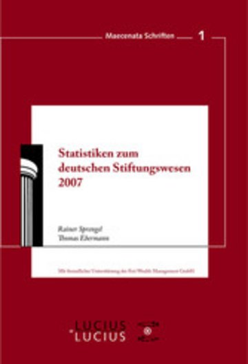 eBook Statistiken zum Deutschen Stiftungswesen 2007 Cover