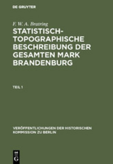 eBook Statistisch-topographische Beschreibung der gesamten Mark Brandenburg Cover
