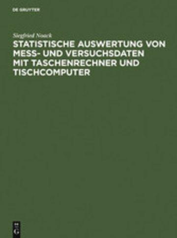 eBook Statistische Auswertung von Mess- und Versuchsdaten mit Taschenrechner und Tischcomputer Cover