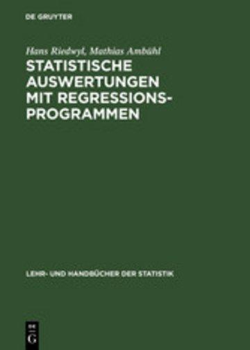 eBook Statistische Auswertungen mit Regressionsprogrammen Cover