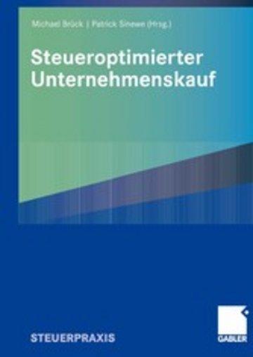 eBook Steueroptimierter Unternehmenskauf Cover
