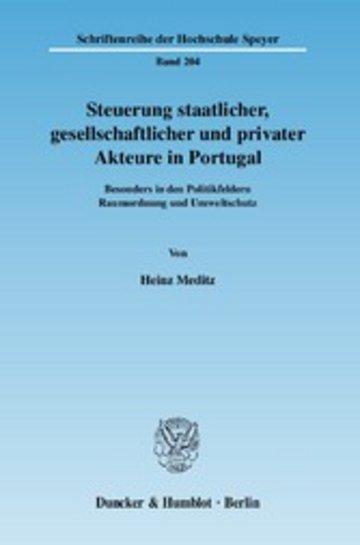 eBook Steuerung staatlicher, gesellschaftlicher und privater Akteure in Portugal. Cover