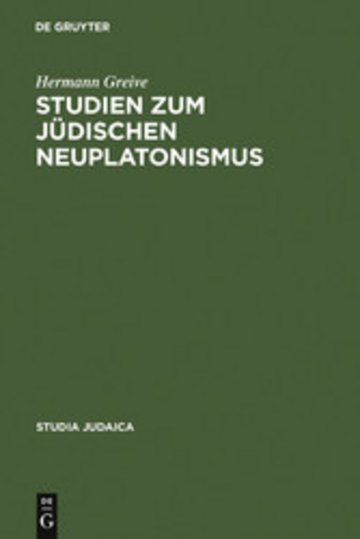 eBook Studien zum jüdischen Neuplatonismus Cover