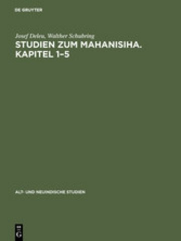eBook Studien zum Mahanisiha. Kapitel 1-5 Cover