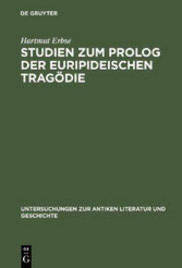 eBook Studien zum Prolog der euripideischen Tragödie Cover