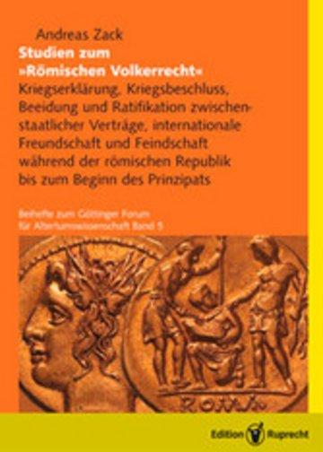 eBook Studien zum Römischen Völkerrecht Cover