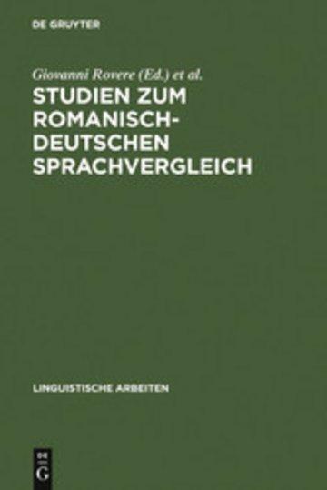eBook Studien zum romanisch-deutschen Sprachvergleich Cover