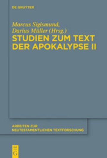 eBook Studien zum Text der Apokalypse II Cover