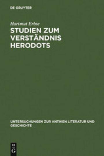 eBook Studien zum Verständnis Herodots Cover