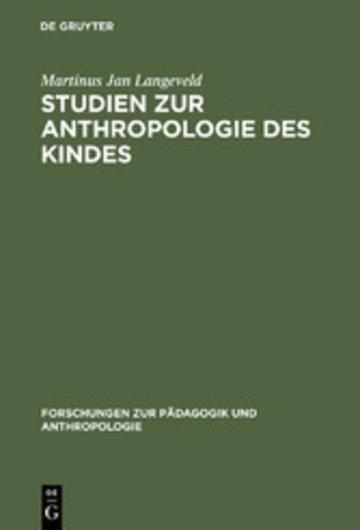 eBook Studien zur Anthropologie des Kindes Cover