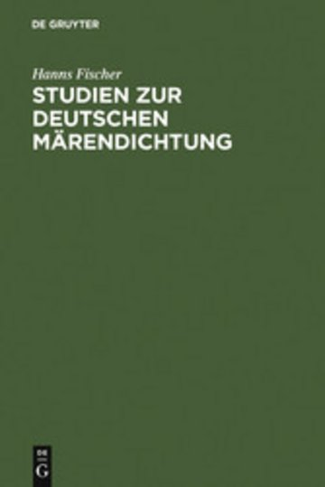 eBook Studien zur deutschen Märendichtung Cover