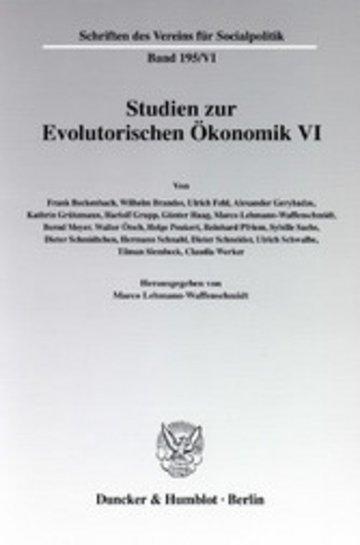 eBook Studien zur Evolutorischen Ökonomik VI. Cover