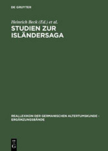 eBook Studien zur Isländersaga Cover