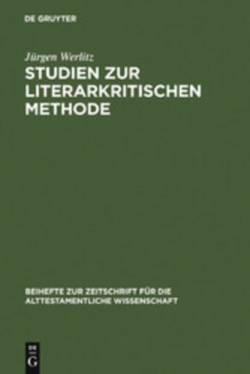 eBook Studien zur literarkritischen Methode Cover