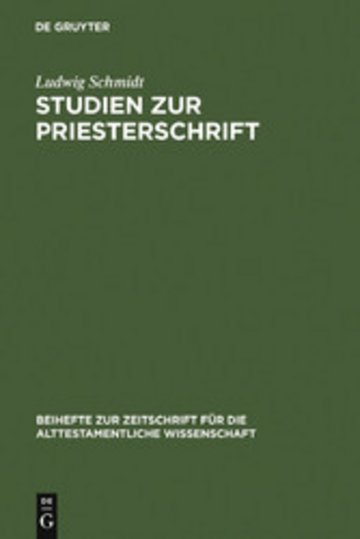 eBook Studien zur Priesterschrift Cover