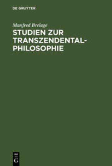 eBook Studien zur Transzendentalphilosophie Cover