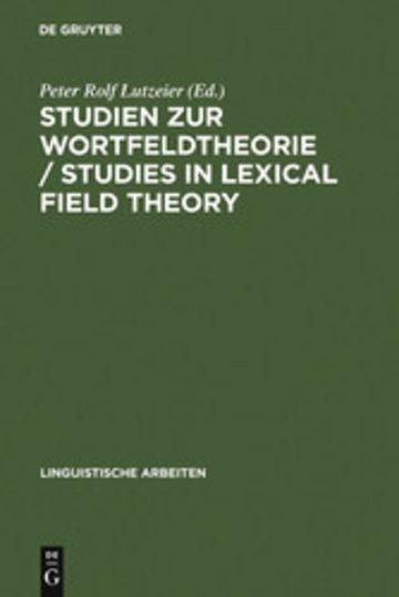 eBook Studien zur Wortfeldtheorie / Studies in Lexical Field Theory Cover