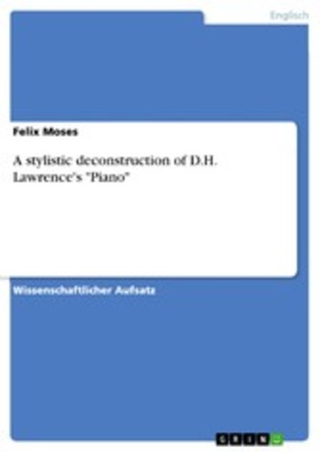 eBook A stylistic deconstruction of D.H. Lawrence's 'Piano' Cover