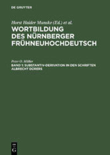 eBook Substantiv-Derivation in den Schriften Albrecht Dürers Cover