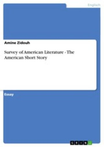 eBook Survey of American Literature - The American Short Story Cover