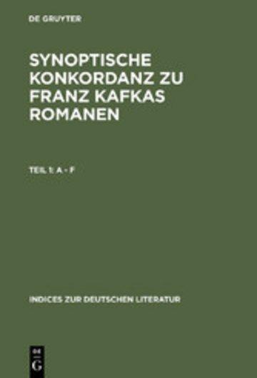 eBook Synoptische Konkordanz zu Franz Kafkas Romanen Cover