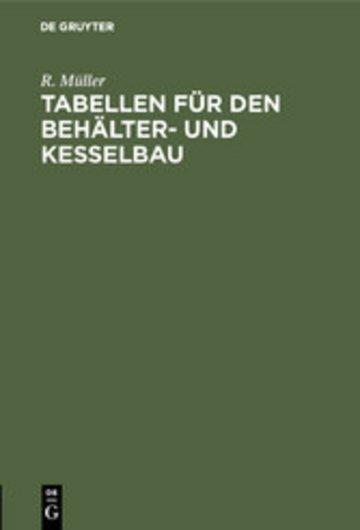 eBook Tabellen für den Behälter- und Kesselbau Cover