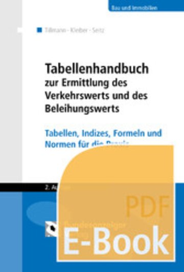 eBook Tabellenhandbuch zur Ermittlung des Verkehrswerts und des Beleihungswerts von Grundstücken (E-Book) Cover