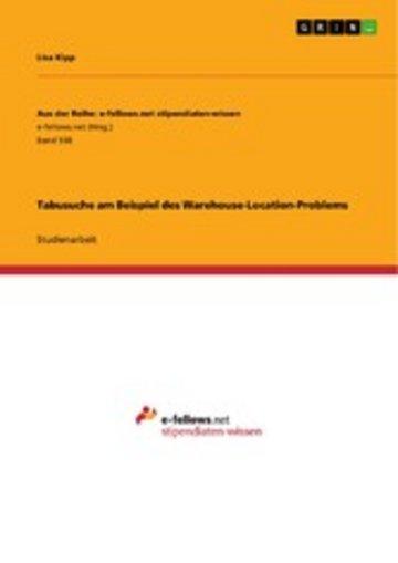 eBook Tabusuche am Beispiel des Warehouse-Location-Problems Cover