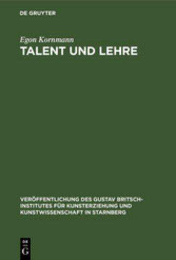 eBook Talent und Lehre Cover